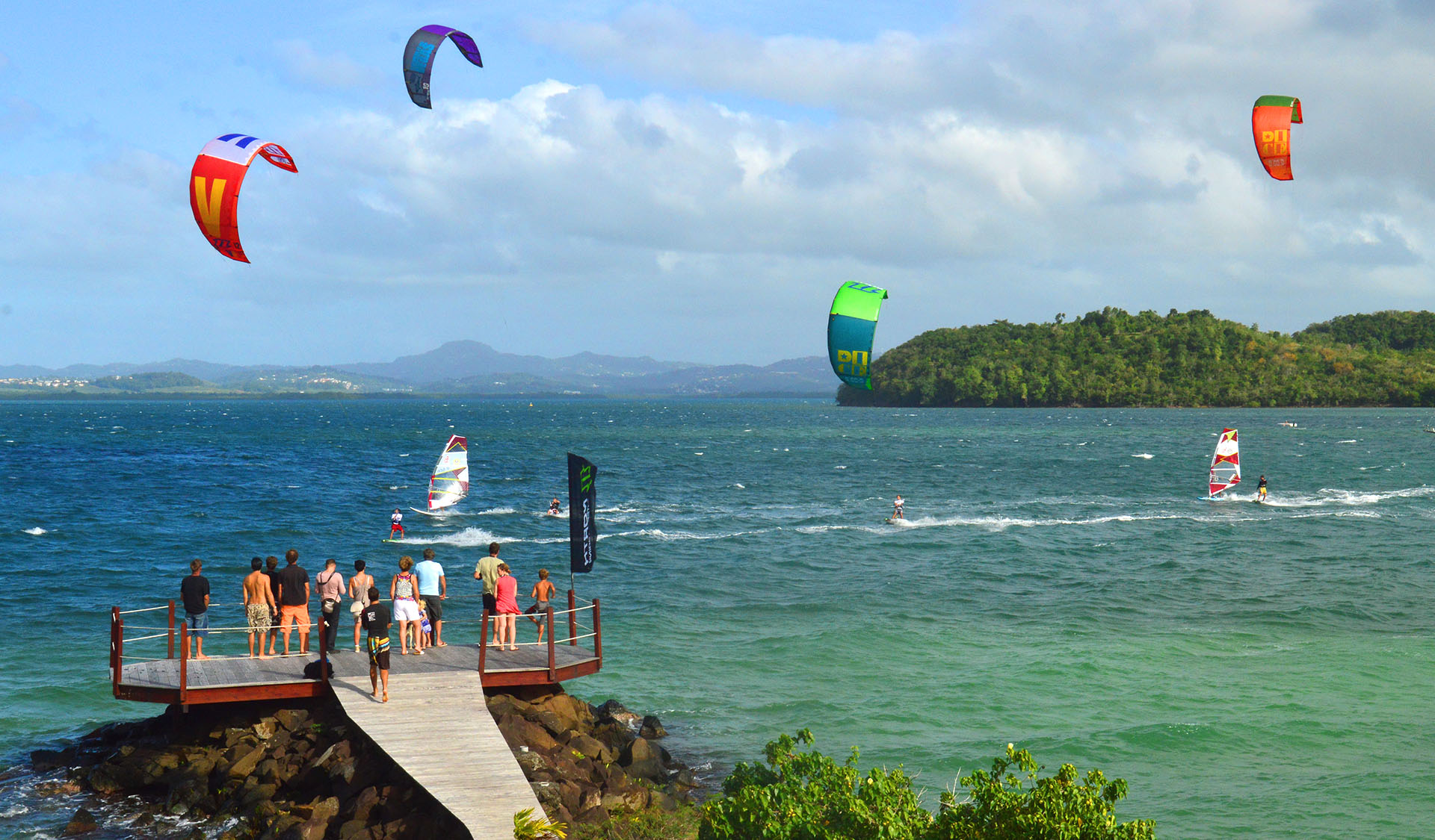 Le spot de kitesurf de la Baz Notik en Martinique