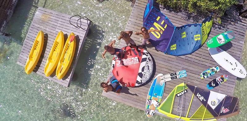 La baz notik en Martinique et ses moniteurs de kitesurf